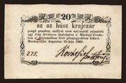 20 Krajczár (Murányalja) – obverse