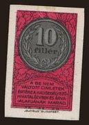 10 Fillér (Hadsegélyező Hivatal) – obverse