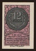12 Fillér (Hadsegélyező Hivatal) – obverse