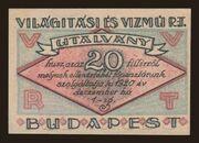 20 Fillér (Világítási és Vízmű Rt.; Budapest) – obverse