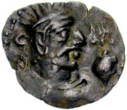Drachm - Toramana (one-sided, Hadda mint) – obverse