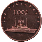 100 Francs (Île Tintamarre) – reverse