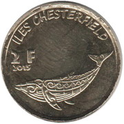 2 Francs (Chesterfield islands) – reverse