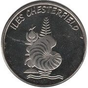 20 Francs (Chesterfield islands) – obverse