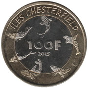 100 Francs (Chesterfield islands) – reverse