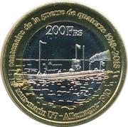 200 Francs (Glorieuses) – reverse