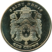 1 Crown (Andalusian horse) – obverse