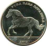 1 Crown (Andalusian horse) – reverse