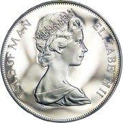 1 Crown - Elizabeth II (Silver Jubilee) -  obverse
