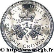 1 Crown - Elizabeth II (Silver Jubilee) -  reverse