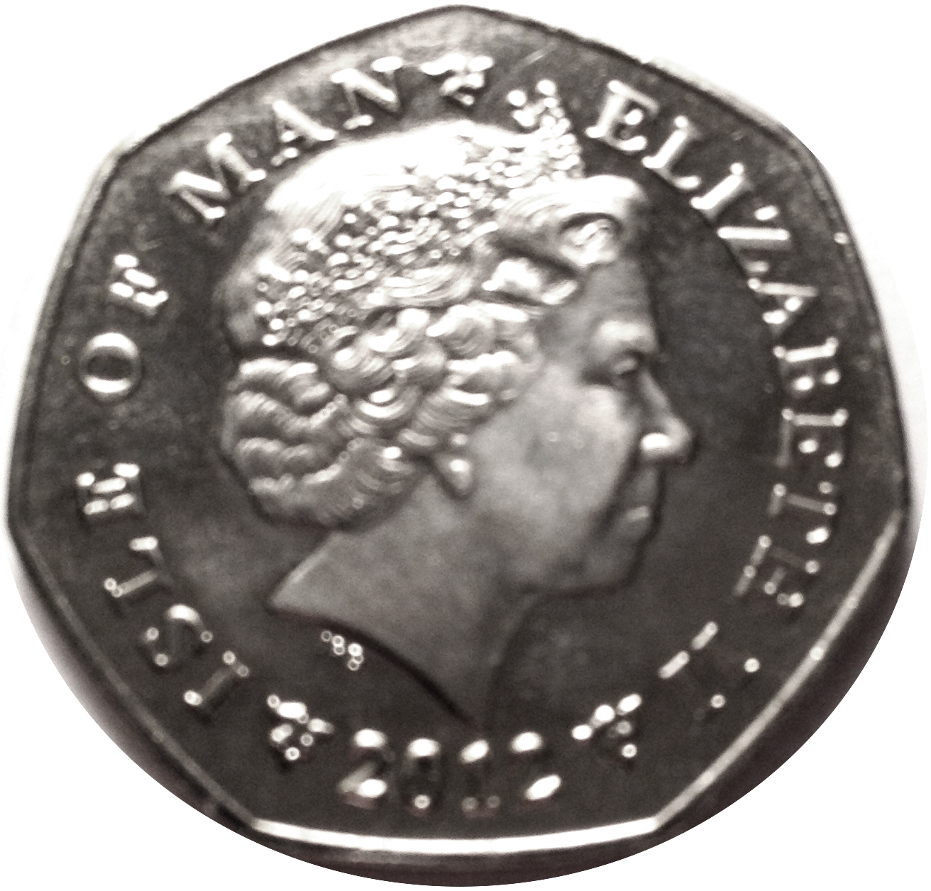 ISLE OF MAN 50 PENCE UNC COIN 2012 YEAR CHRISTMAS