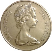 1 Crown - Elizabeth II (2nd portrait) -  obverse