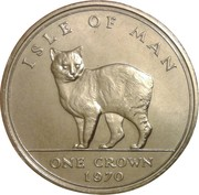 1 Crown - Elizabeth II (Manx Cat) -  reverse