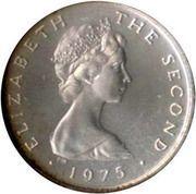 ½ New Penny - Elizabeth II(ragwort; silver) – obverse