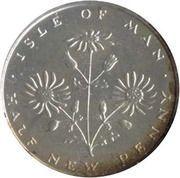 ½ New Penny - Elizabeth II(ragwort; silver) – reverse