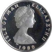 ½ Penny - Elizabeth II (stylized herring; .500 fine silver) – obverse