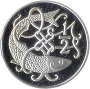 ½ Penny - Elizabeth II (stylized herring; .500 fine silver) – reverse
