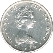 ½ Penny - Elizabeth II (herring; silver) – obverse