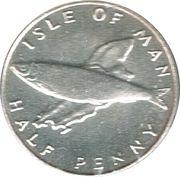 ½ Penny - Elizabeth II (herring; silver) – reverse