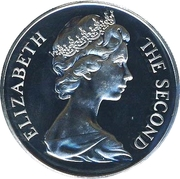 1 Crown - Elizabeth II (Manx Cat) – obverse