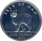 1 Crown - Elizabeth II (Manx Cat) – reverse
