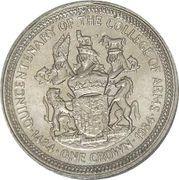 1 Crown - Elizabeth II (College of Arms) -  reverse