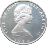 ½ Penny - Elizabeth II (Fuchsia flower on shield; silver) – obverse
