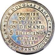 5 Shillings (Douglas Bank) – reverse
