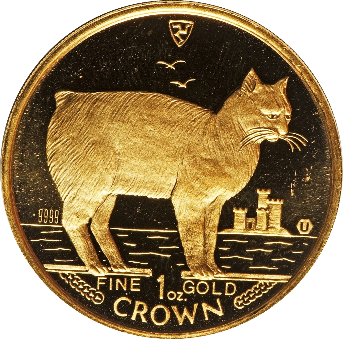 First year of series! 999 Silver Proof Coin 1988 Isle Of Man MANX Cat 1 oz Of