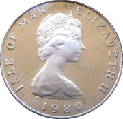 1 Penny - Elizabeth II  (Manx cat) -  obverse