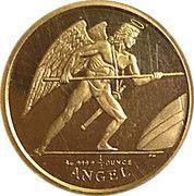 ¼ Angel - Elizabeth II (Archangel Michael) – reverse