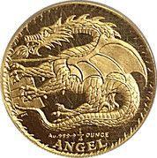 ¼ Angel - Elizabeth II (Dragon) – reverse