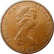 ½ Penny - Elizabeth II (stylized herring) – obverse