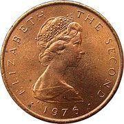 ½ Penny - Elizabeth II (herring) – obverse