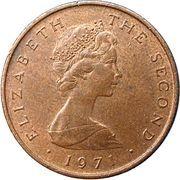 ½ New Penny - Elizabeth II (ragwort) – obverse