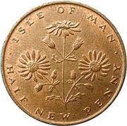 ½ New Penny - Elizabeth II (ragwort) – reverse