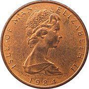 ½ Penny - Elizabeth II (Fuchsia flower on shield) – obverse