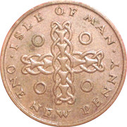 1 New Penny - Elizabeth II(ring and celtic chain) -  obverse