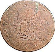 ½ Penny - George III – obverse