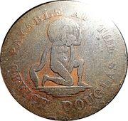 1 Penny - Payable at Douglas Office - Atlas & Globe – obverse