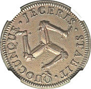 1 Penny - James Murray – reverse