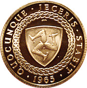 1 Sovereign - Bicentenary of Revestment Act (200th Anniversary of Acquisition) – reverse