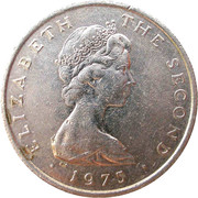 5 New Pence - Elizabeth II (2nd portrait) -  obverse