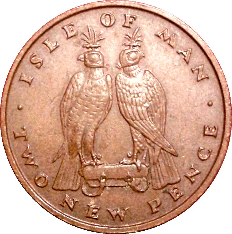 GREAT BRITAIN 1973-1//2 New Penny Bronze Coin Queen Elizabeth II