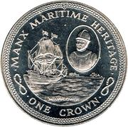 1 Crown - Elizabeth II (Mayflower) -  reverse