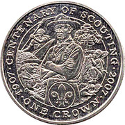 1 Crown - Elizabeth II (Scouting) -  reverse