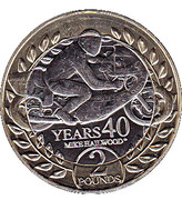 2 Pounds Mike Hailwood 40 Years – reverse