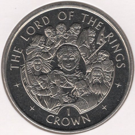 1 Crown Elizabeth Ii Lord Of The Rings Isle Of Man