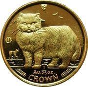 1/25 Crown - Elizabeth II (Persian Cat) – reverse
