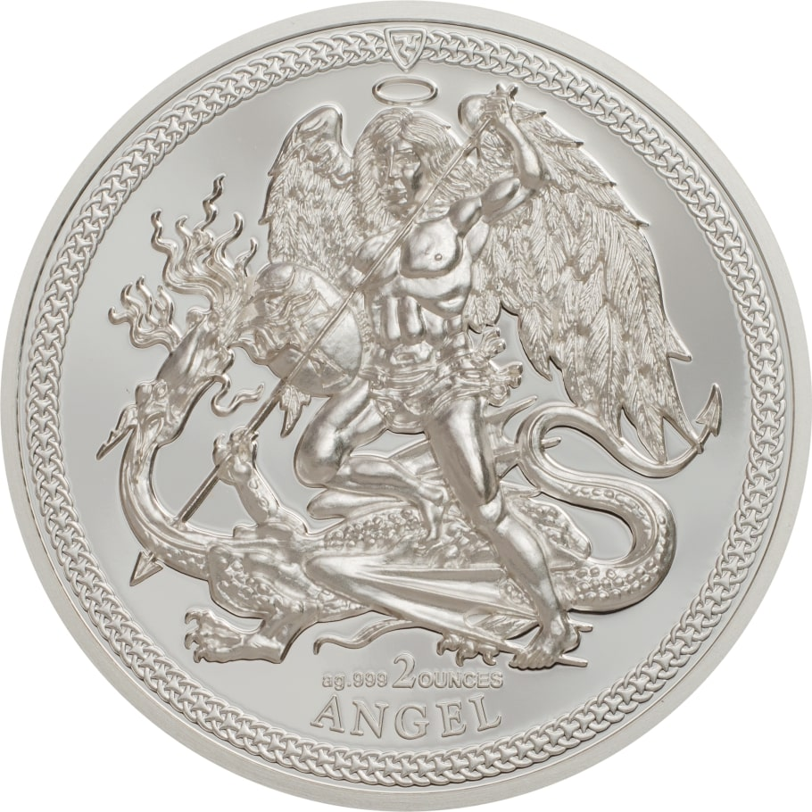 New Rare 2018 Isle of Man Proof Angel 1oz  Fine Silver Coin .999  wCapsule//Pouch